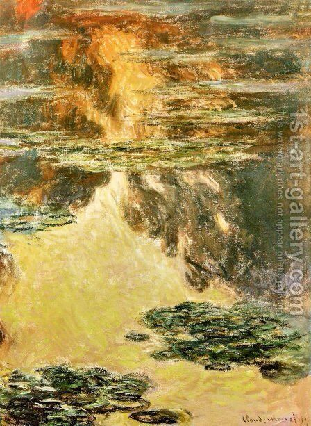 Water Lilies18 by Claude Oscar Monet - Reproduction Oil Painting