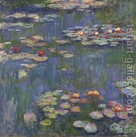 Water Lilies27 by Claude Oscar Monet - Reproduction Oil Painting