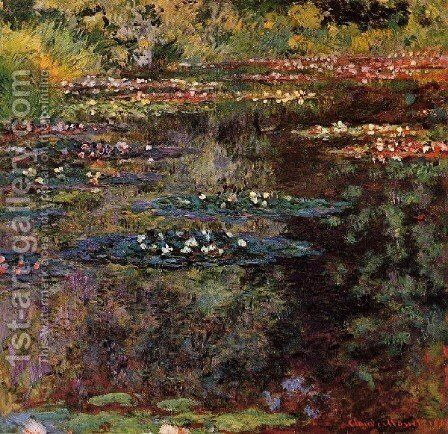 Water Lilies35 by Claude Oscar Monet - Reproduction Oil Painting