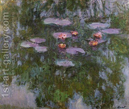 Water Lilies41 by Claude Oscar Monet - Reproduction Oil Painting