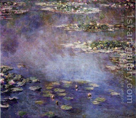 Water Lilies46 by Claude Oscar Monet - Reproduction Oil Painting