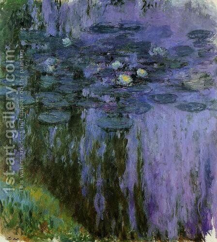 Water Lilies49 by Claude Oscar Monet - Reproduction Oil Painting