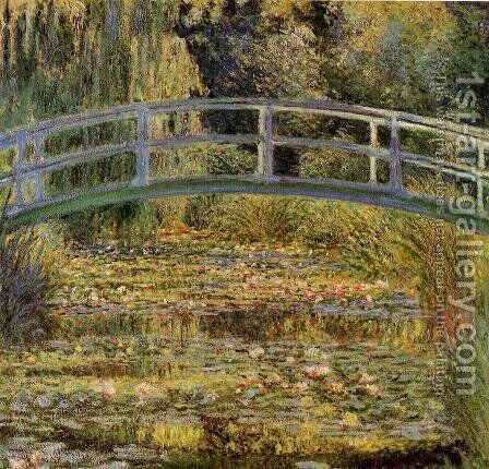 Water Lily Pond2 by Claude Oscar Monet - Reproduction Oil Painting