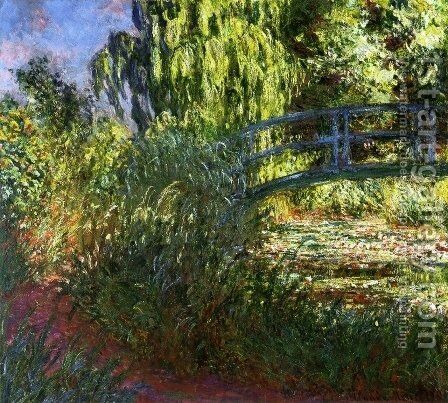 Waterlily Pond And Path By The Water by Claude Oscar Monet - Reproduction Oil Painting