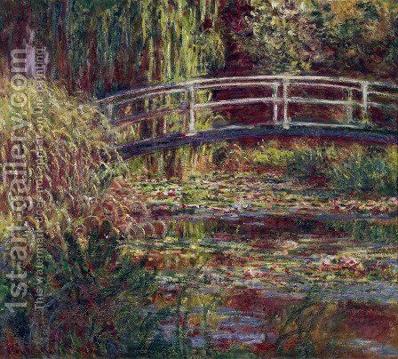 Water Lily Pond  Symphony In Rose by Claude Oscar Monet - Reproduction Oil Painting