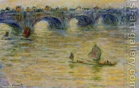 Waterloo Bridge 3 by Claude Oscar Monet - Reproduction Oil Painting