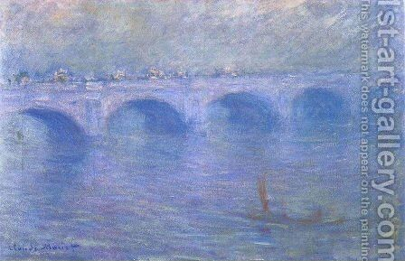 Waterloo Bridge In The Fog by Claude Oscar Monet - Reproduction Oil Painting
