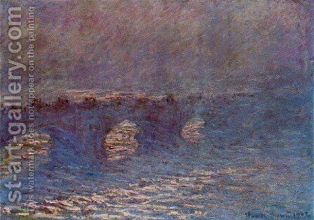 Waterloo Bridge  Effect Of Sun In The Mist by Claude Oscar Monet - Reproduction Oil Painting