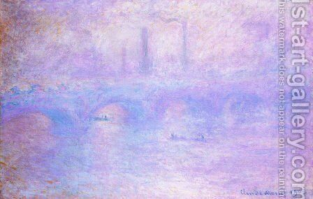 Waterloo Bridge  Fog Effect by Claude Oscar Monet - Reproduction Oil Painting