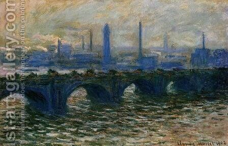 Waterloo Bridge  Misty Morning by Claude Oscar Monet - Reproduction Oil Painting