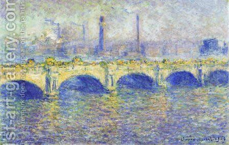 Waterloo Bridge  Sunlight Effect4 by Claude Oscar Monet - Reproduction Oil Painting