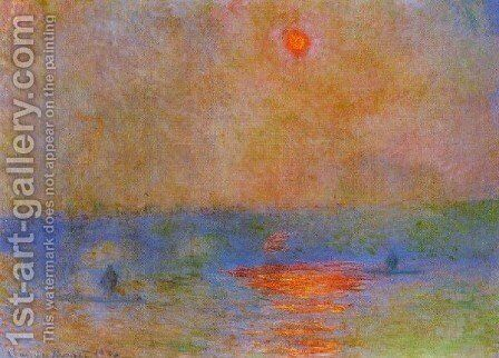 Waterloo Bridge  Sunlight In The Fog by Claude Oscar Monet - Reproduction Oil Painting