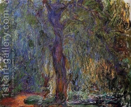 Weeping Willow4 by Claude Oscar Monet - Reproduction Oil Painting