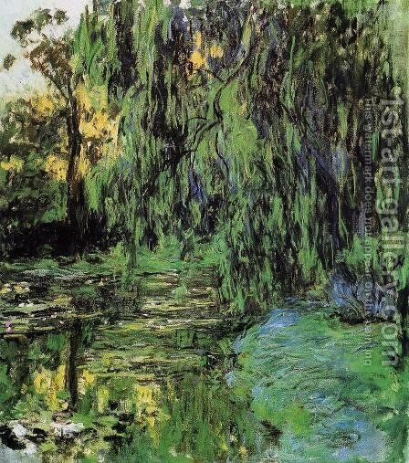 Weeping Willow And Water Lily Pond by Claude Oscar Monet - Reproduction Oil Painting