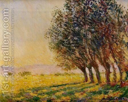 Willows At Sunset by Claude Oscar Monet - Reproduction Oil Painting