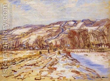 Winter At Giverny by Claude Oscar Monet - Reproduction Oil Painting