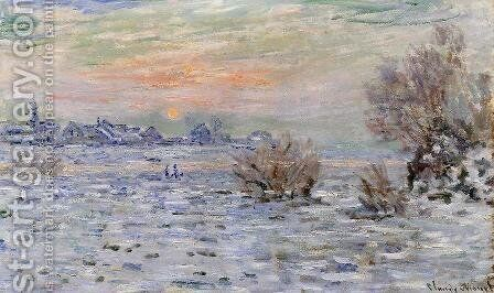 Winter On The Seine  Lavacourt by Claude Oscar Monet - Reproduction Oil Painting
