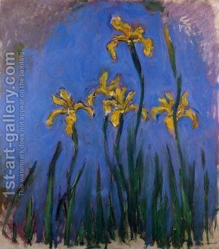 Yellow Irises2 by Claude Oscar Monet - Reproduction Oil Painting