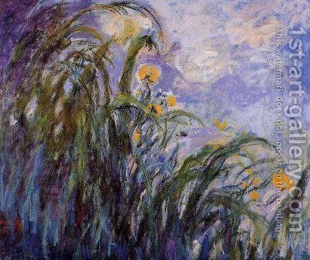 Yellow Irises3 by Claude Oscar Monet - Reproduction Oil Painting
