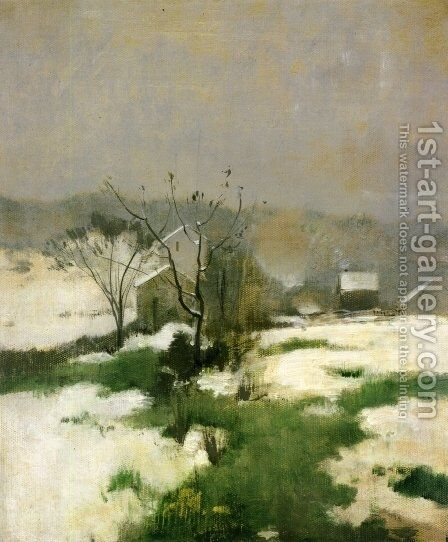 An Early Winter by John Henry Twachtman - Reproduction Oil Painting