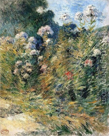 Flower Garden by John Henry Twachtman - Reproduction Oil Painting