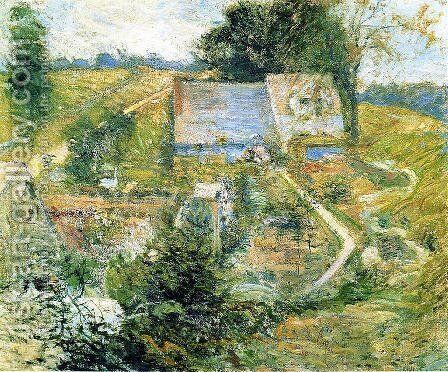 From The Upper Terrace by John Henry Twachtman - Reproduction Oil Painting