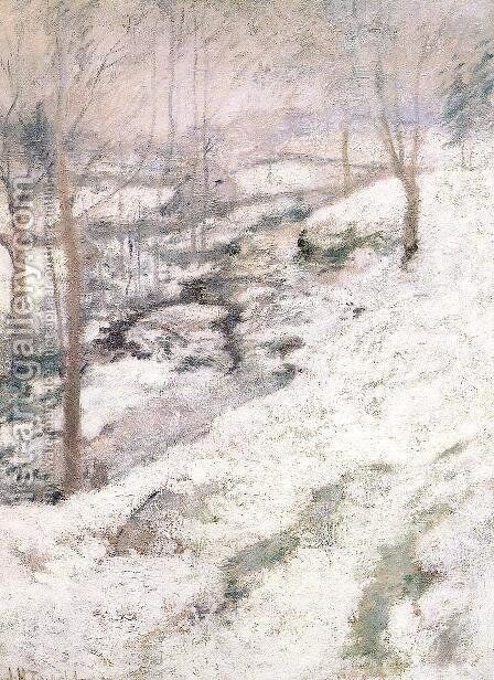 Frozen Brook2 by John Henry Twachtman - Reproduction Oil Painting