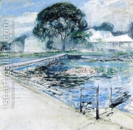 Harbor View Hotel by John Henry Twachtman - Reproduction Oil Painting