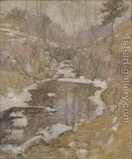 Hemlock Pool by John Henry Twachtman - Reproduction Oil Painting