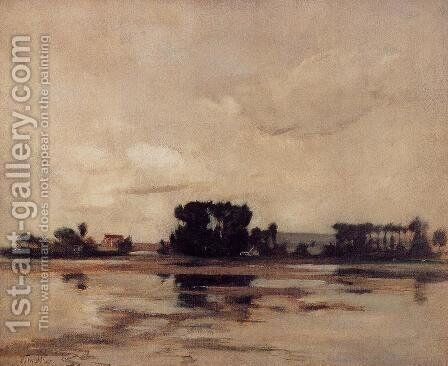 942efed1ce170 L Etang Aka The Pond by John Henry Twachtman - Reproduction Oil Painting