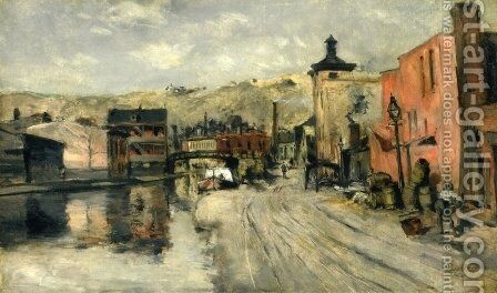 Miami Canal  Cincinnati by John Henry Twachtman - Reproduction Oil Painting