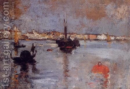 The Grand Canal  Venice by John Henry Twachtman - Reproduction Oil Painting