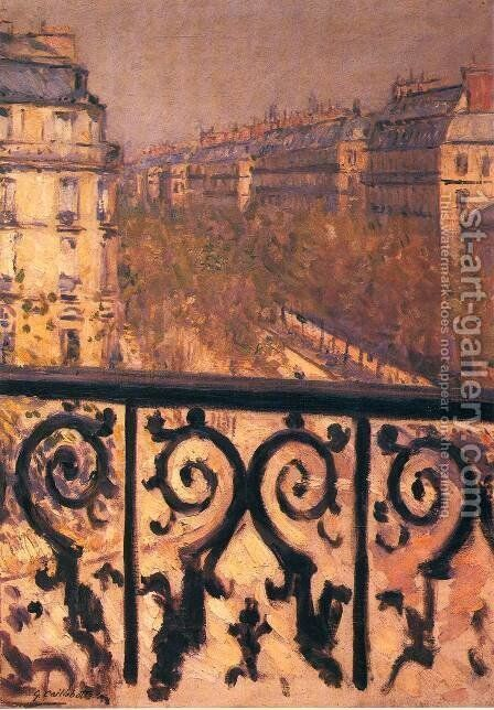 A Balcony In Paris by Gustave Caillebotte - Reproduction Oil Painting