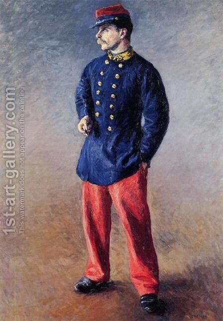 A Soldier by Gustave Caillebotte - Reproduction Oil Painting