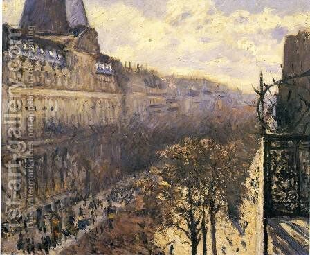 Boulevard Des Italiens by Gustave Caillebotte - Reproduction Oil Painting