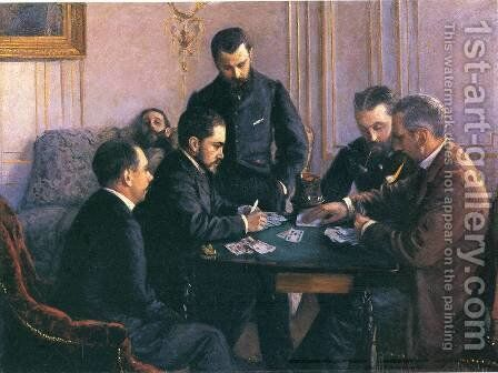 Game Of Bezique by Gustave Caillebotte - Reproduction Oil Painting