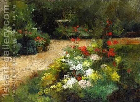 Garden by Gustave Caillebotte - Reproduction Oil Painting