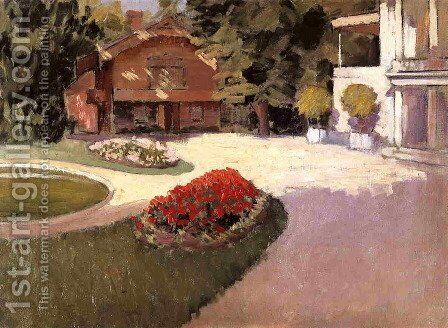 Garden At Yerres by Gustave Caillebotte - Reproduction Oil Painting