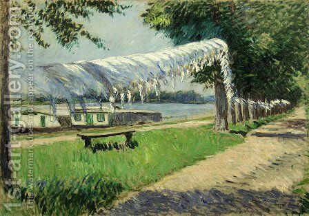 Laundry Drying by Gustave Caillebotte - Reproduction Oil Painting