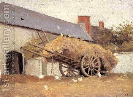 Loaded Haycart by Gustave Caillebotte - Reproduction Oil Painting