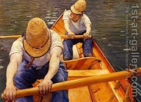Oarsmen by Gustave Caillebotte - Reproduction Oil Painting
