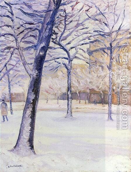 Park In The Snow  Pari by Gustave Caillebotte - Reproduction Oil Painting