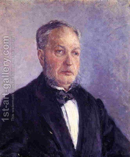 Portrait Of Jean Daurelle by Gustave Caillebotte - Reproduction Oil Painting