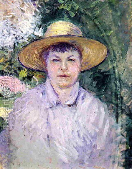 Portrait Of Madame Renoir by Gustave Caillebotte - Reproduction Oil Painting