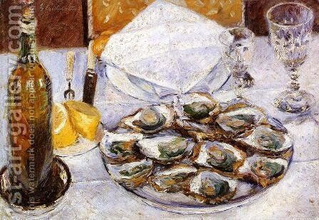 Still Life With Oysters by Gustave Caillebotte - Reproduction Oil Painting