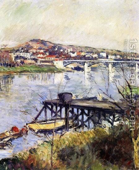 The Argenteuil Bridge by Gustave Caillebotte - Reproduction Oil Painting