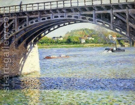 The Argenteuil Bridge And The Seine by Gustave Caillebotte - Reproduction Oil Painting