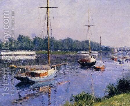 The Basin At Argenteuil by Gustave Caillebotte - Reproduction Oil Painting