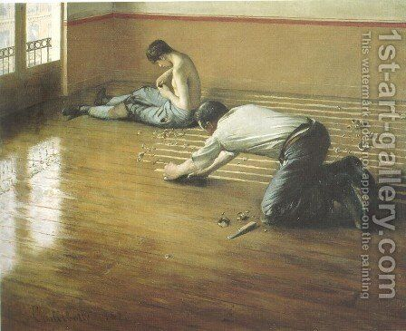 The Floor Scrapers by Gustave Caillebotte - Reproduction Oil Painting