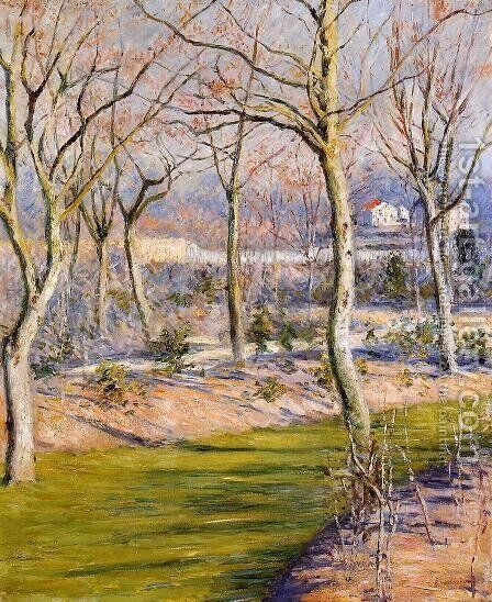 The Garden At Petit Gennevilliers In Winter by Gustave Caillebotte - Reproduction Oil Painting